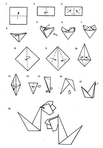 Схема изготовления подснежника из бумаги.