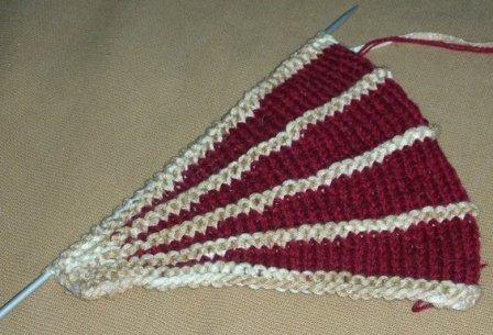 Частичное вязание спицами