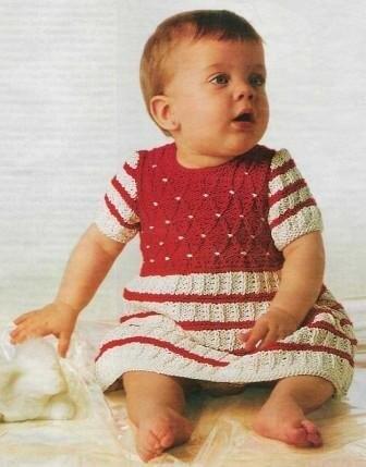 Вязание спицами Платье для